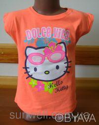 Детская футболка для девочки Китти, Hello kitty  Sun Sity Франция   3-8лет В . Київ, Київська область. фото 3
