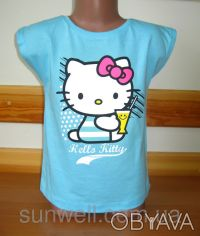 Детская футболка для девочки Китти, Hello kitty  Sun Sity Франция   3-8лет В . Київ, Київська область. фото 4