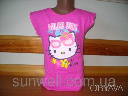 Детская футболка для девочки Китти, Hello kitty  Sun Sity Франция   3-8лет В . Київ, Київська область. фото 1