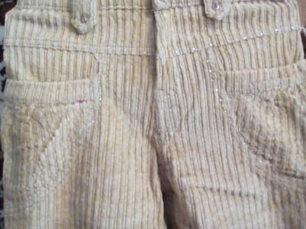 Брюки вельветовые.на девочку 10-13 лет,р.26,песочного цвета,в очень хорошем сост. Вышгород, Киевская область. фото 4