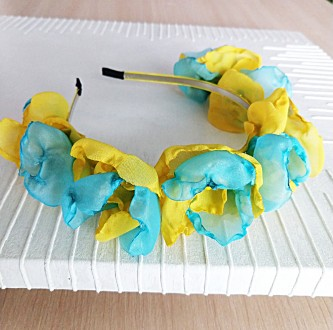 Веночек обруч из цветов ручной работы. Киев. фото 1