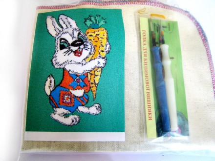 Набор для «ковровой вышивки»  2 иглы «Заяц». Ивано-Франковск. фото 1