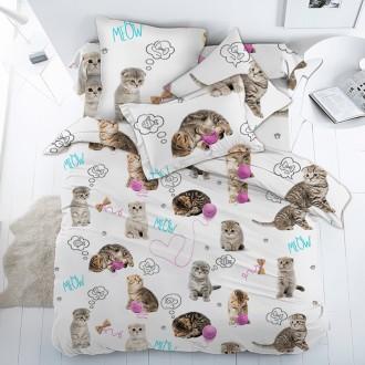 Детское постельное белье с Котятами, в кроватку, полуторное, на резинке. Харьков. фото 1