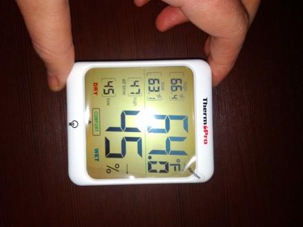 Гигрометр термометр с подсветкой. TermоPro Отличное качество. Желтая подсветка. Чернигов, Черниговская область. фото 10