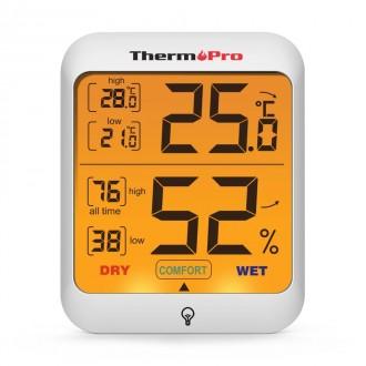 Гигрометр термометр с подсветкой. TermоPro Отличное качество. Желтая подсветка. Чернигов, Черниговская область. фото 5