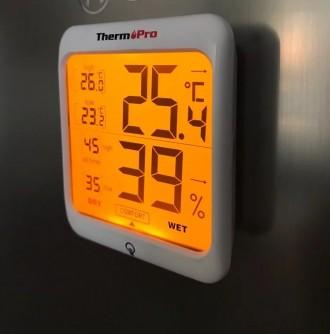 Гигрометр термометр с подсветкой. TermоPro Отличное качество. Желтая подсветка. Чернигов, Черниговская область. фото 11