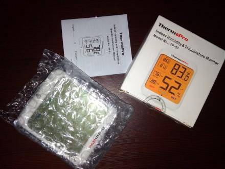 Гигрометр термометр с подсветкой. TermоPro Отличное качество. Желтая подсветка. Чернигов, Черниговская область. фото 7