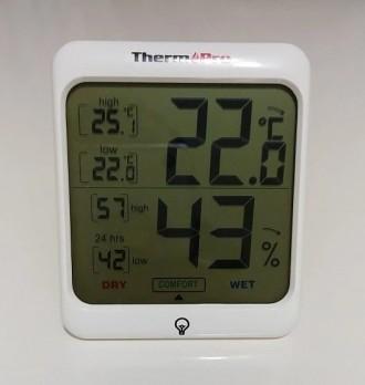Гигрометр термометр с подсветкой. TermоPro Отличное качество. Желтая подсветка. Чернигов, Черниговская область. фото 13