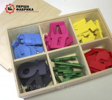 Іграшка деревяна магнітна абетка. Винница. фото 1
