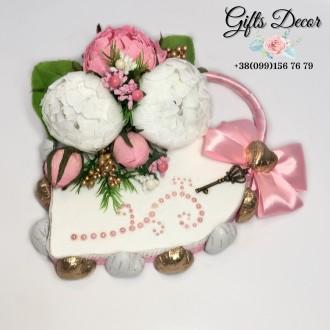 Подарок из конфет «Ключ к сердцу». Киев. фото 1