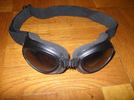Мото-очки HeiN Gericke затемнённые на резинке. Киев. фото 1