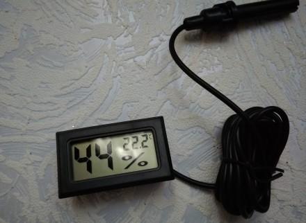 Мини гигрометр - термометр с выносным датчиком служит для измерения влажности и . Чернигов, Черниговская область. фото 5