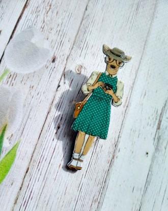Интересная акриловая брошь для милых модниц!. Першотравенск, Днепропетровская область. фото 3