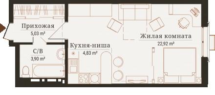 Редкое предложение! 1к квартира студио 37 м2 в доме Бирмингем сдача август 2019,. Киев, Киевская область. фото 7