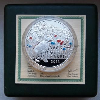 Серебряная монета Год Кролика остров Ниуэ (Новая Зеландия). Харьков. фото 1