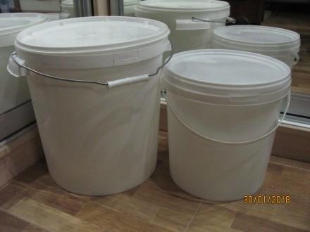 Ведро пластик белый 10 литров. Киев. фото 1