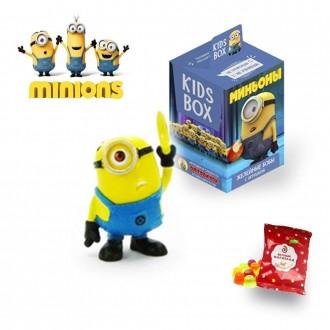 Миньоны   конфета  с  игрушкой Свитбокс KIDS BOX. Николаев. фото 1