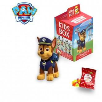Щенячий Патруль Свитбокс Kids Box мармелад  с игрушкой  Paw Patrol. Николаев. фото 1