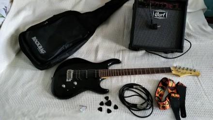 Гитарный комплект ВИДЕО Электрогитара Cort G254 и комбик Cort MX15 и другое... Дубно. фото 1