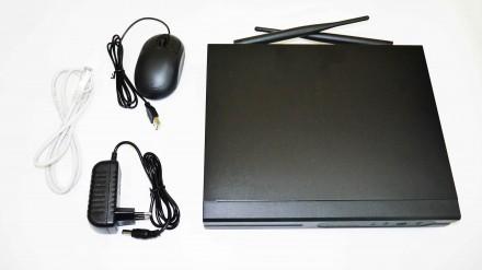 Видеорегистратор DVR WiFi KIT HD720 8-канальный (8 камер в комплекте)  БЕСПРОВОД. Чернигов. фото 1