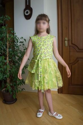 Нове святкове плаття для дівчинки на 7-8 років із німецтких тканин.. Львов, Львовская область. фото 3