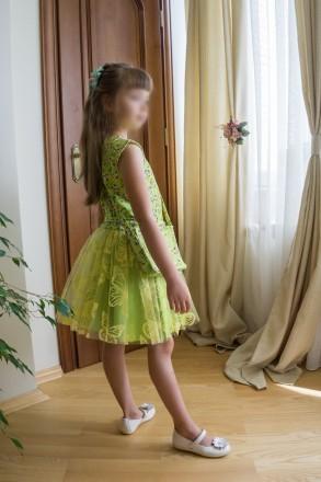Нове святкове плаття для дівчинки на 7-8 років із німецтких тканин.. Львов, Львовская область. фото 4