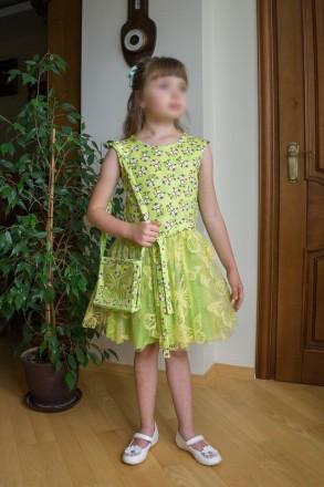 Нове святкове плаття для дівчинки на 7-8 років із німецтких тканин.. Львов, Львовская область. фото 2