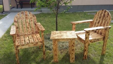 Кресло и столик, массив, сосна. Киев. фото 1