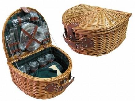 Корзина для пикника с наполнением из нержавеющей стали и ковриком (147 * 120см) . Хмельницкий. фото 1