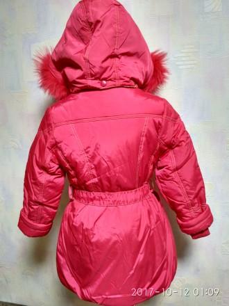Зимнее пальто-куртка для девочки фирмы DONILO (оригинал)  Куртка-пальто коралл. Белая Церковь, Киевская область. фото 7