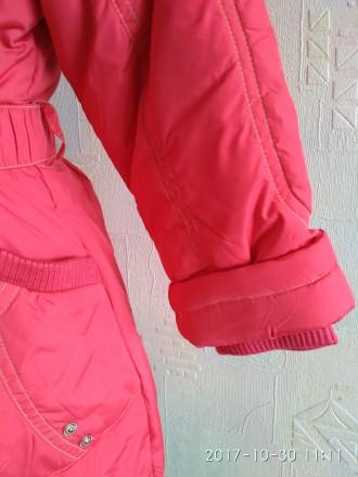Зимнее пальто-куртка для девочки фирмы DONILO (оригинал)  Куртка-пальто коралл. Белая Церковь, Киевская область. фото 3