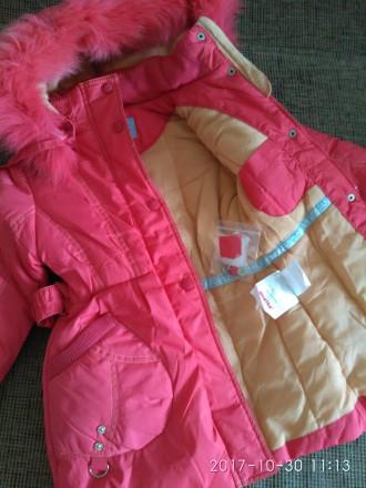 Зимнее пальто-куртка для девочки фирмы DONILO (оригинал)  Куртка-пальто коралл. Белая Церковь, Киевская область. фото 6