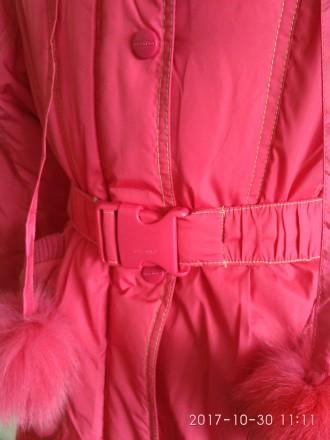 Зимнее пальто-куртка для девочки фирмы DONILO (оригинал)  Куртка-пальто коралл. Белая Церковь, Киевская область. фото 4