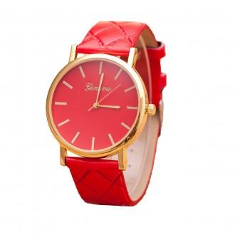 Красные женские часы Женева (Geneva). Киев. фото 1