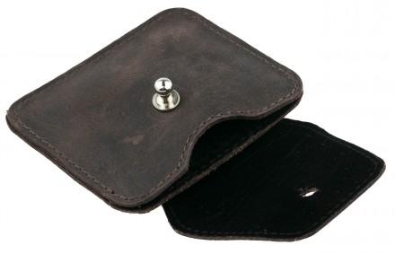 Кожаный чехол для наушников. Изготовлен из натуральной кожи коричневого цвета. Р. Киев, Киевская область. фото 5