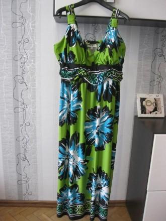 Olivia matthews невероятное летнее платье сарафан микромасло бальшого размера 22. Луцк. фото 1