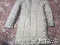 Пальтишко зимнее,очень теплое,на девочку 10-13 лет серо-горчичного цвета.Длинна-. Вышгород, Киевская область. фото 3