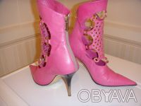 Продам итальянские кожаные полусапожки Loriblu розового цвета 37 размера.. Киев. фото 1