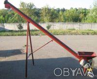 Шнековый погрузчик зерна ТГ100/3 с бункером длина 3м, диаметр 100мм, 1,1 кВт. Киев. фото 1