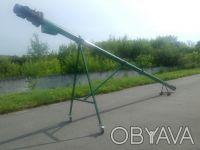 Шнековый погрузчик зерна ТГ115/3/3/0,5 бункер съемный, колеса длина 6,5м. Киев. фото 1