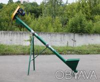 Шнековый погрузчик зерна ТГ160/3/3/1 бункер съемный, колеса, длина 7м. Киев. фото 1