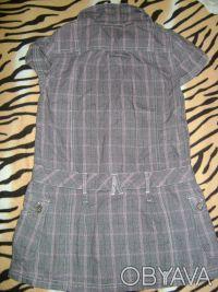 Продам тунику NEXT для девочки 8 лет 128 см , 100%cotton,цвет серый в розовую кл. Киев, Киевская область. фото 4