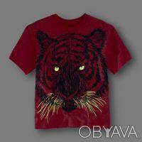 Новая футболка The Childrens Place для мальчика.  Футболка с тигром. В темноте. Киев, Киевская область. фото 3