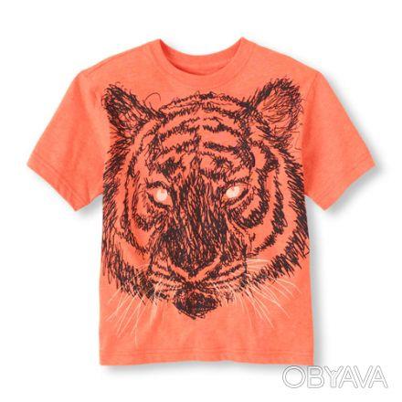 Новая футболка The Childrens Place для мальчика.  Футболка с тигром. В темноте. Киев, Киевская область. фото 1