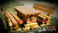 Садовая мебель из дерева .бревна. Чернигов. фото 1