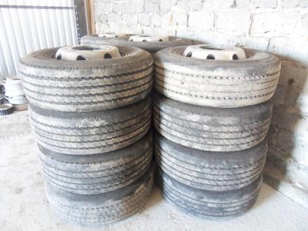 Грузова шина з титан. диском Goodyear Michelin 285/70/R19.5 оригінал. Львов. фото 1