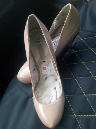 Шикарные бежевые туфельки. Киев. фото 1