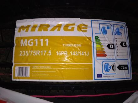 Нові MIRAGE MG111 235/75 R17.5 [143/141 J ) 16PR руль. Львов. фото 1