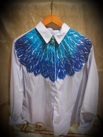 блуза с художественной росписью. Фастов. фото 1