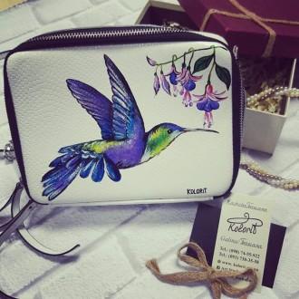 сумки, натуральная кожа, с художественной росписью. Фастов. фото 1
